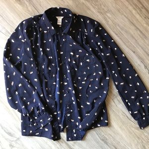 Forever 21 navy button-down